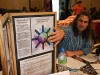 Antony manning the Way of the Human stall at the Falmouth Mind Body Spirit festival.